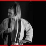 karate girls in training