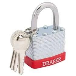 Draper-Laminated-Steel-Padlock-40mm