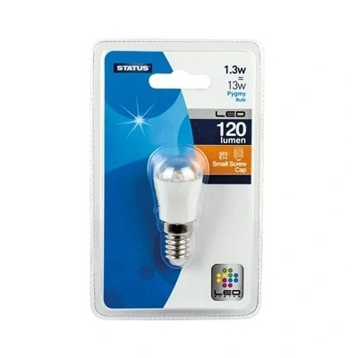 Status-LED-Pygmy-Fridge-Bulb-1.3W-SES-E14-Halogen-Replacement