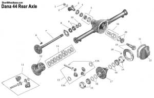 Dana 44 Rear Axle Identification