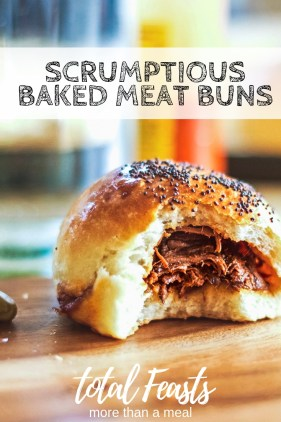 Baked Meat buns with beef