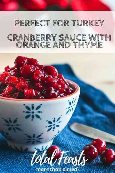 Delicious and easy cranberry sauce with orange sauce recipe. Makes use of herbs and sherry, it is perfect to complement turkey.