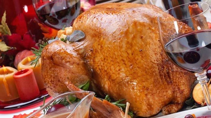 turkey and wine