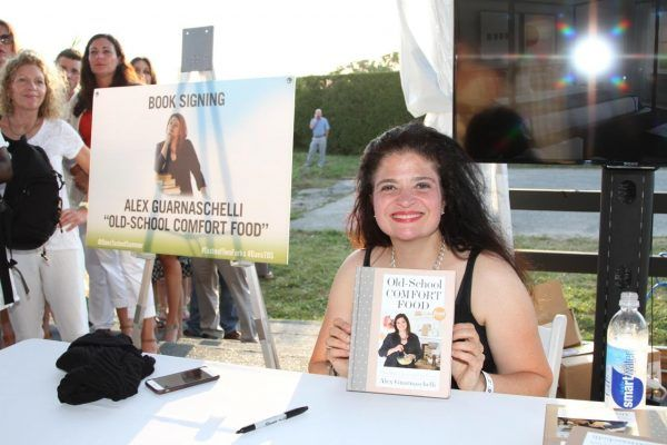Alex Guarnaschelli signing copies of her new book