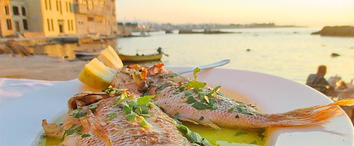 Delicious whole fish cooked in extra virgin olive oil.