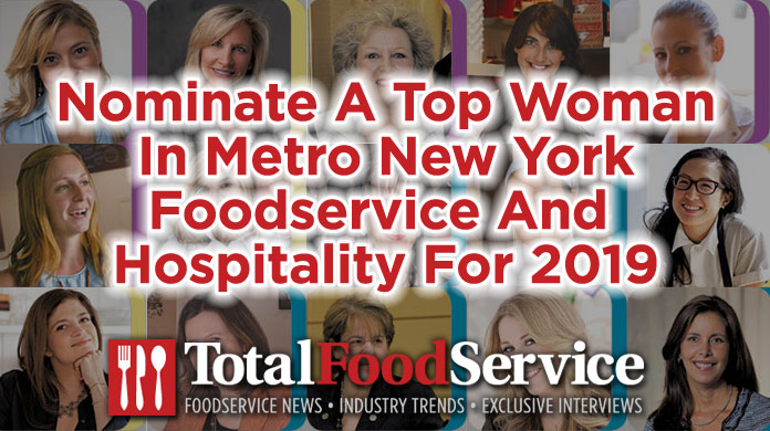 Nominate Top Women in Foodservice and Hospitality Metro NYC 2019