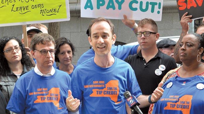 tip credit rally NYC hospitality alliance Bronx