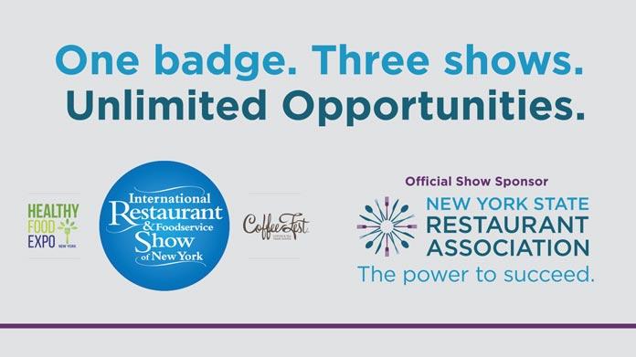 NYSRA Restaurant Show Pillars