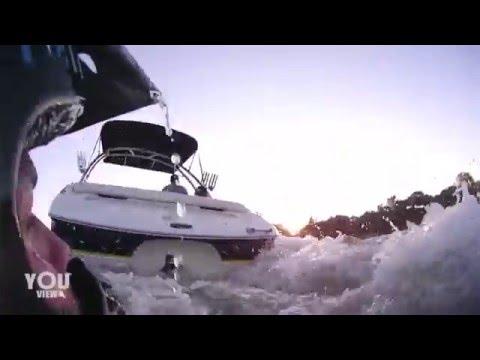 Jet Ski and Boat Collide Head On