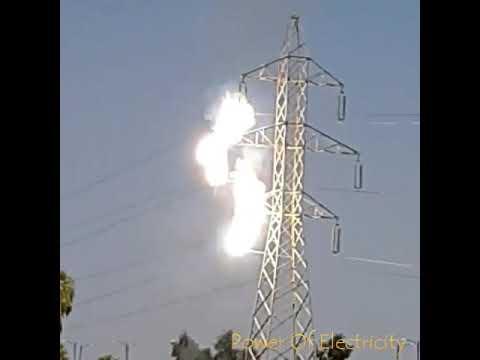 VIDEO: Huge Fire Dragon | Extra High Tension | 400KV Transmission Line | Short Circuit
