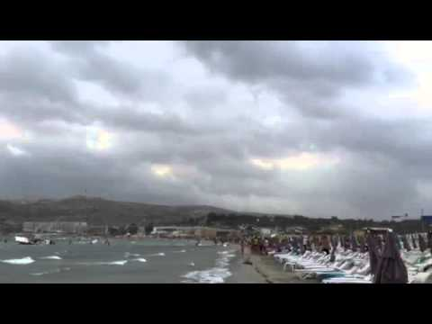 VIDEO: The horrifying moment a parasail rope snaps as a boat is hit by a freak storm in Malta
