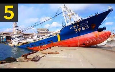 VIDEO: Top 5 Ship Docking Fails – Boats VS Land