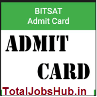 bitsat-admit-card