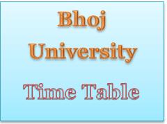 bhoj-university-time-table