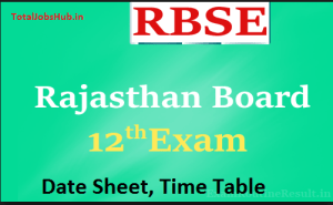 rbse-12th-time-table