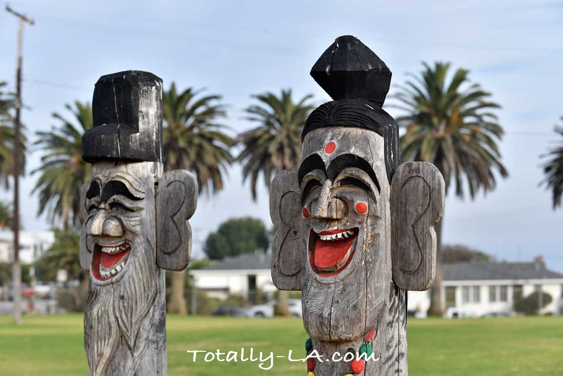 Totems at Friendship Bell