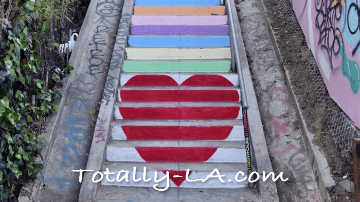 la painted stairs