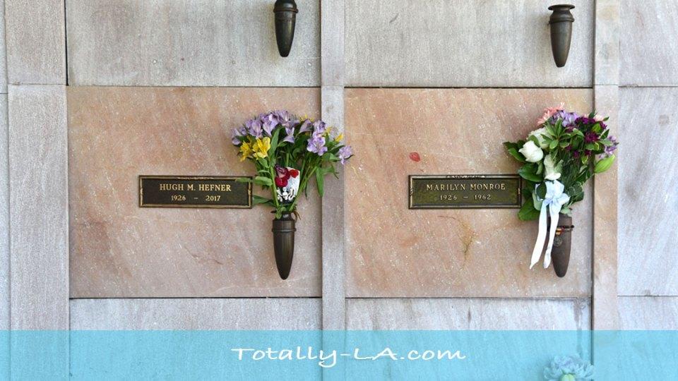 Marilyn Monroe and Hugh Hefner's Graves