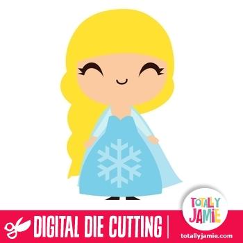 Cute Frozen Princess Elsa TotallyJamie SVG Cut Files
