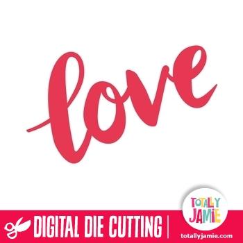 Download Love Hand Lettering Brush Script Title - TotallyJamie: SVG ...