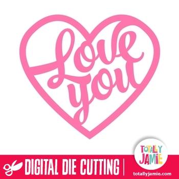 Download Love You Brush Script Title Heart - TotallyJamie: SVG Cut ...
