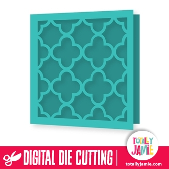 Quatrefoil Lace Background Card TotallyJamie SVG Cut