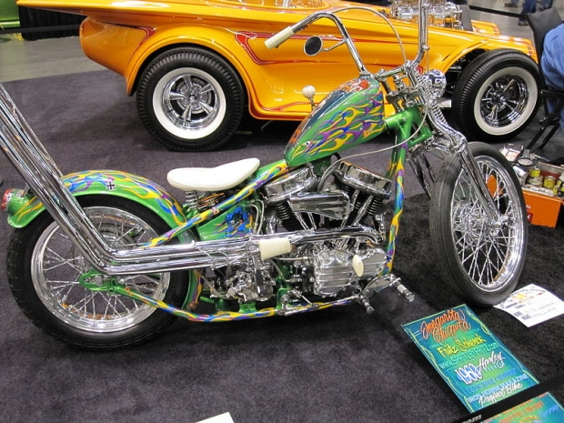 show in 2010 the paint on this motorcycle is off the hook