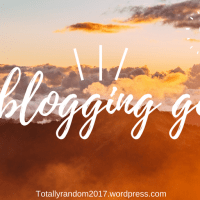 My blogging goals