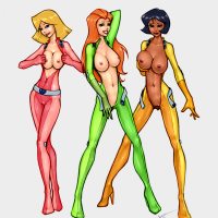 Busty totally spies girl shows tits