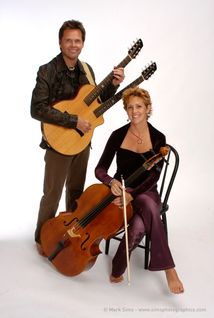 Acoustic Eidolon, featuring Joe Scott on double neck guitar and Hannah Alkire on cello, will perform Feb. 27 at the St. Augustine Art Association. Contributed image