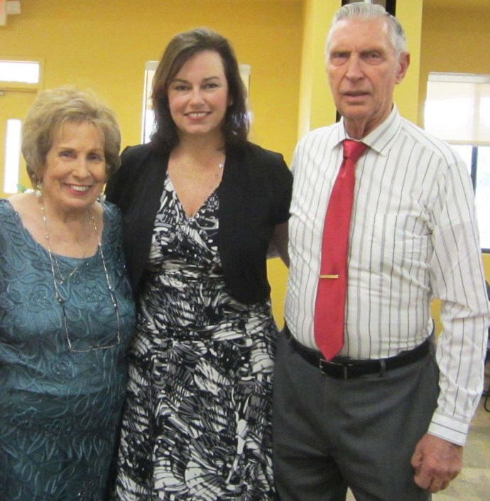Alice and Don Tossi with Sonja Mihovilich Willetts of St. Augustine at the Tossis' 50th wedding anniversary celebration Feb. 20.