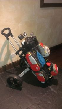 Life size golf bag for