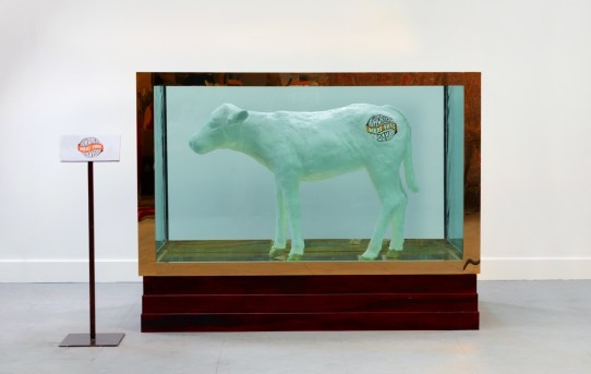 Totally Sugar - Damien Hirst's legendary artwork 'false idol' recreated using 480kg of saturated fat World Meat Free Day side)