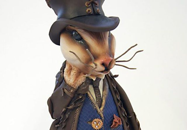 Lewis The Steam Punk Rabbit - Sugar Modelling Classes - Totally Sugar London