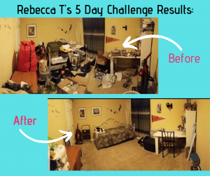 Rebecca T 5 Day Challenge Results