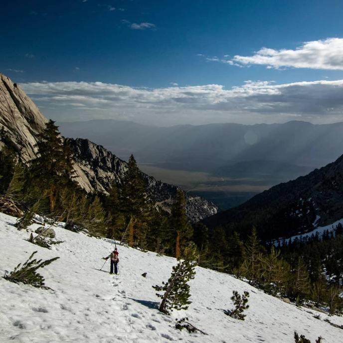 The Sierra are still holding plenty of snow above 9,000 ft!