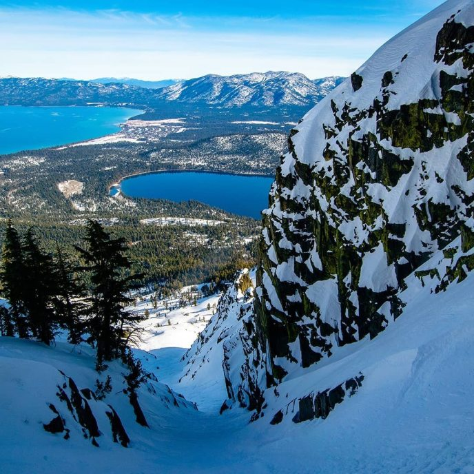 After years of gawking up at the Cross Couloir from South Lake I finally got to see the view from the heart of Tahoe's most iconic line! An absolutely phenomenal day on skis with Kevin, Ian, Luke, and Taka!