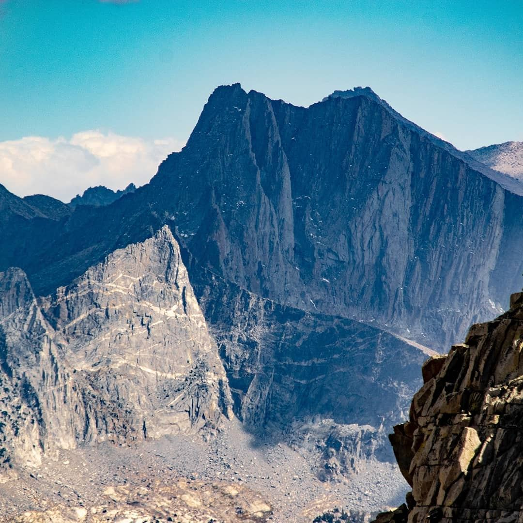 Mt Clarence King. Mt Cotter. Mt Gardiner. A three pack of some of the most photogenic peaks in the Sierra Nevada! I'm always fascinated to see a peak from a new angle - I climbed Mt Gardiner several years ago but had no idea of the stunning stripes across its base!
