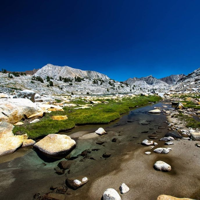 After 15 miles and 9000 vertical feet of hiking I went for a swim and found a warm granite slab to lay on. If had let my eyes shut I probably would have slept through the night. Alas, I still had ten miles to hike, but those ten minutes at the lake were pure bliss.