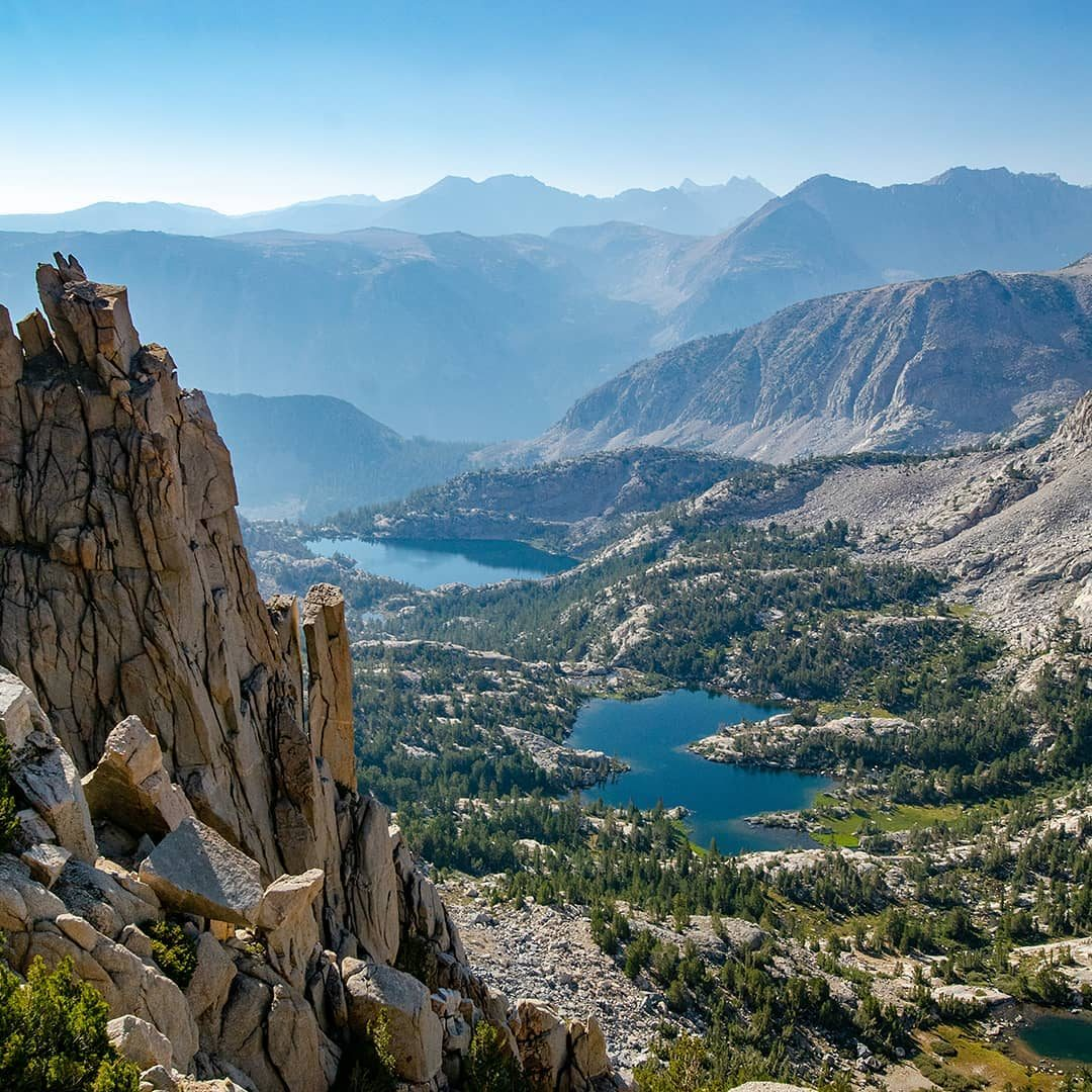 Soaring pinnacles above Wonder Lakes.