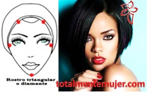 rostro triangular o de diamante rihanna