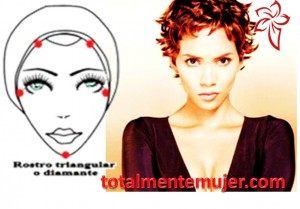 rostro triangular o diamante halle berry