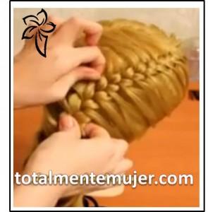 hermoso peinado de novia facil