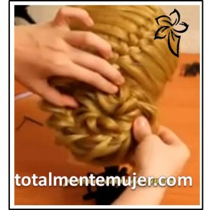peinado elegante con trenza francesa