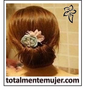 peinado elegante y facil con cabello largo