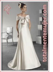 vestido de novia elegante de princesa escote barco