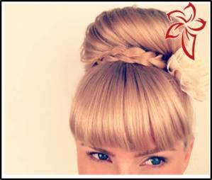 peinado de navidad elegante y facil