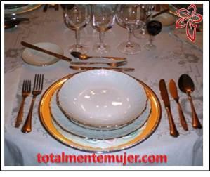 Montaje de mesa romántica