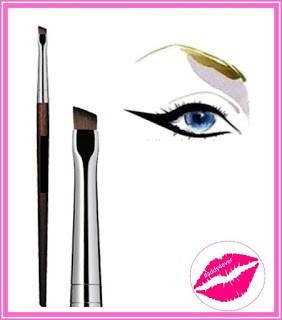 brocha de maquillaje para delineado de cejas