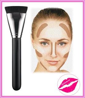 brocha de maquillaje para contouring